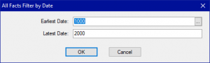 Shows Query dialog box