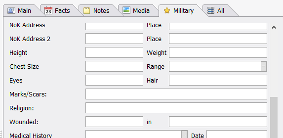 Part of the Military Facts custom Property Box tab